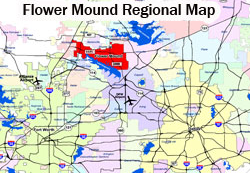 Flower Mound Regional Map