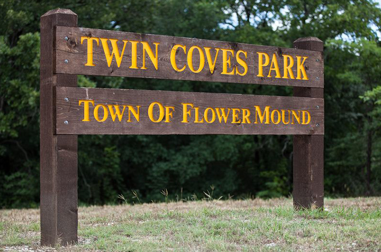Twin Coves Sign