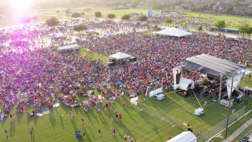 Independence Fest Aerial Photo