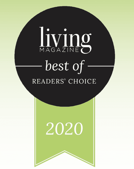 "Living Magazine ""Best of 2020"" award ribbon graphic"