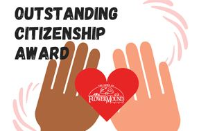 graphic that says Outstanding Citizenship Award with two hands holding a heart