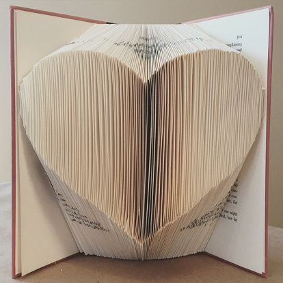 Book Folding example photo heart