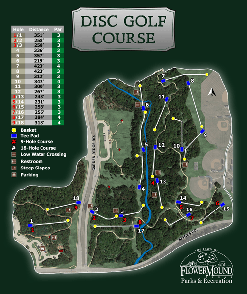 Disc Golf Course Map Opens in new window