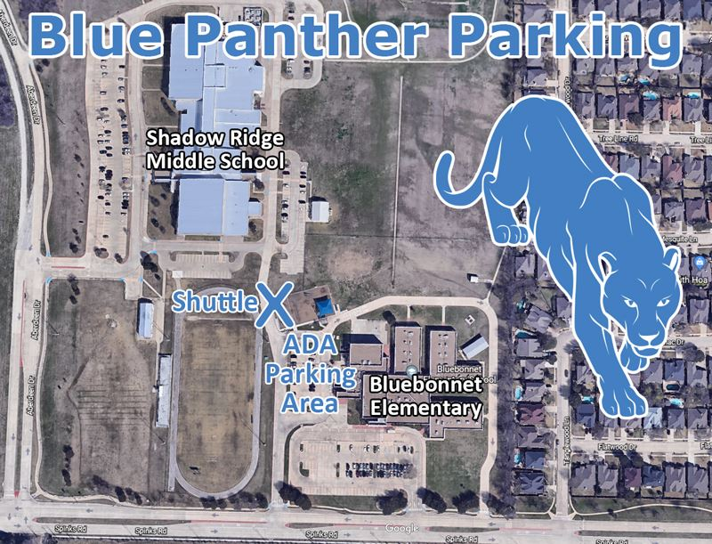 Blue Panther Parking